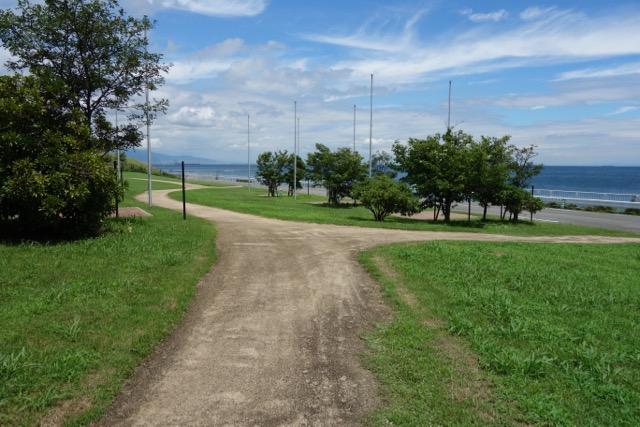 国営明石海峡公園バーベキュー広場のサイト間通路