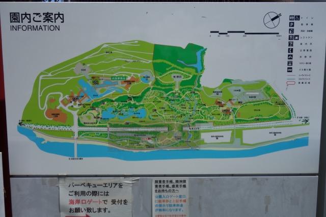 国営明石海峡公園バーベキュー広場の地図