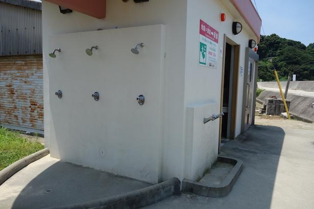 江井海水浴場のシャワー