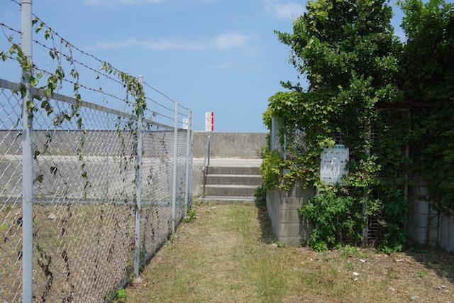 江井海水浴場への行き方(脇道)