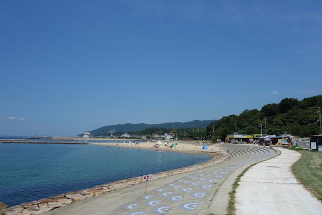 多賀の浜海水浴場の外観