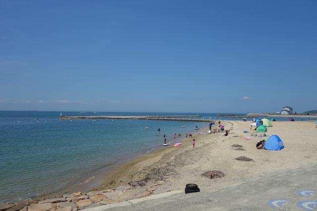 多賀の浜海水浴場遠浅ではないビーチ