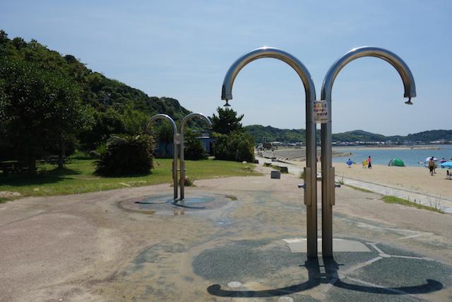 多賀の浜海水浴場のシャワー